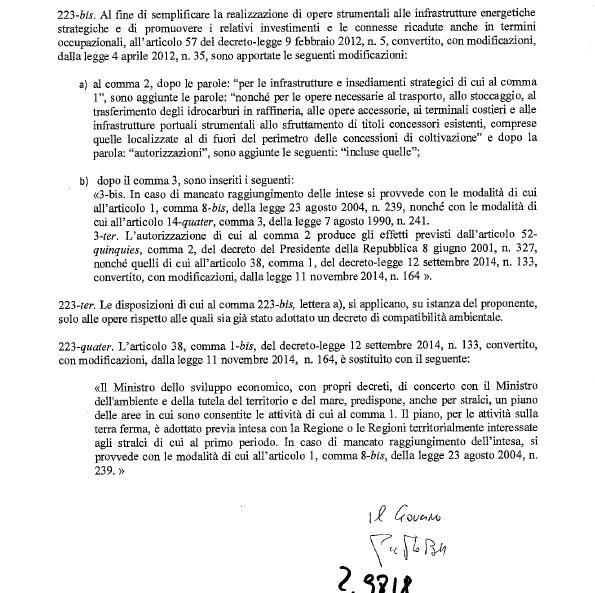 emendamento tempa rossa stabilità 2015