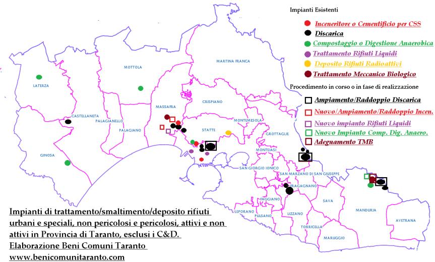 La denuncia dei comitati territoriali e dei medici della provincia di Taranto: Emilianoincontraci!